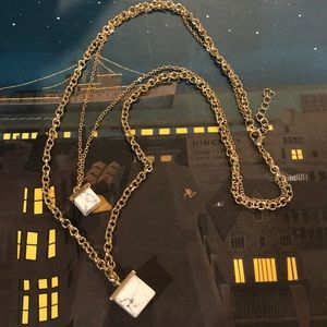 Jewelry - Square stone layered necklace